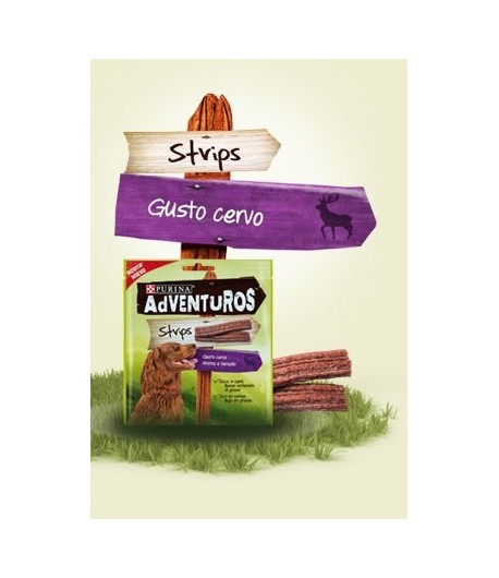 Adventuros Strips gusto Cervo 90 gr.