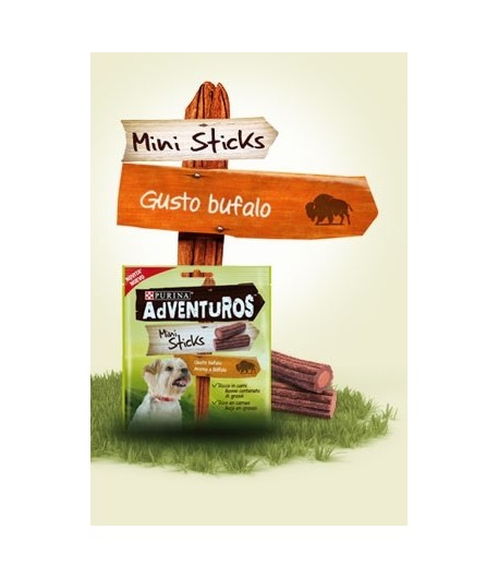Adventuros Mini Sticks gusto Bufalo 90 gr.