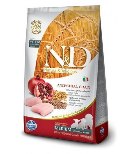 N&D ANCESTRAL DOG Puppy Medium Pollo e Melograno