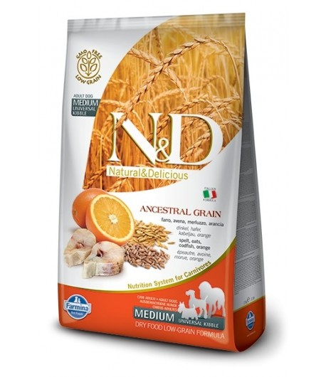 N&D ANCESTRAL DOG Adult Medium Merluzzo e Arancia