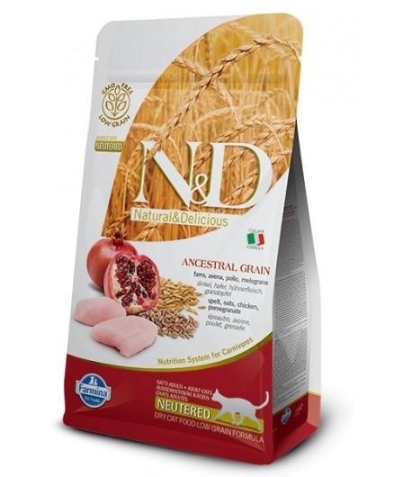 N&D ANCESTRAL CAT NEUTERED ADULT 1,5 Kg.