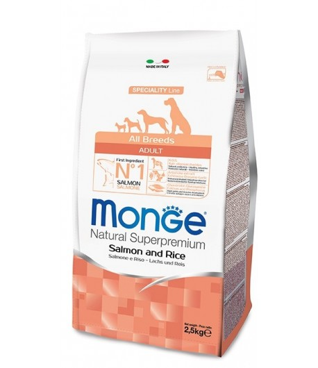 Monge All Breeds Salmone, Riso e Patate