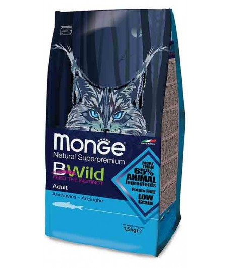 Monge BWild Cat Adult con Acciughe