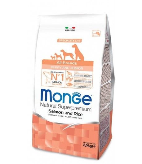 Monge All Breeds PUPPY Salmone, Riso e Patate
