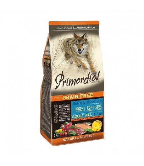 Primordial Grain Free Dog Adult All Breed Trota e Anatra