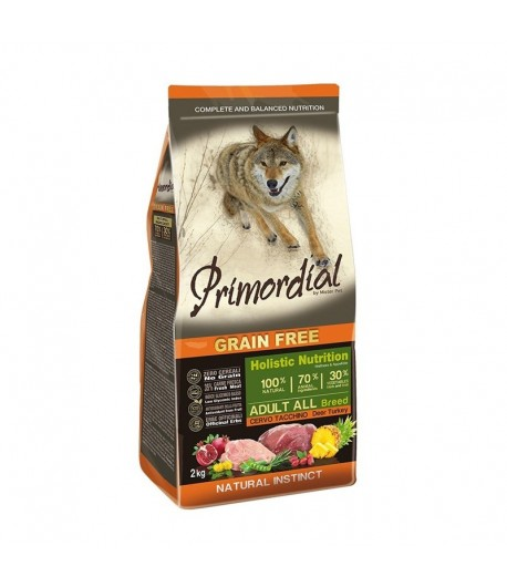 Primordial Grain Free Dog Adult All Breed Cervo e Tacchino