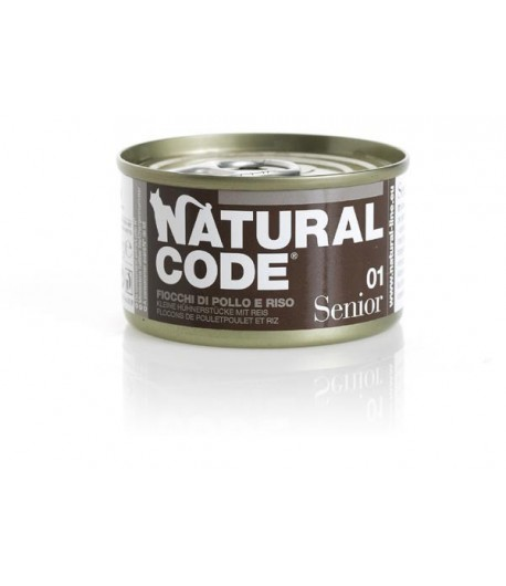 Natural Code Cat Senior 85 gr. in Brodo