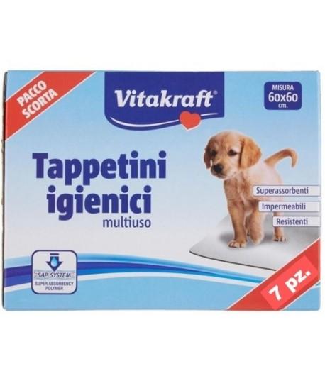 Vitakraft, Tappetini Igienici 60x60 7pz. 1 + 1 omaggio