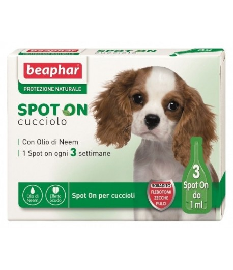 Beaphar, Protezione Naturale Olio di Neem, Spot on Cucciolo