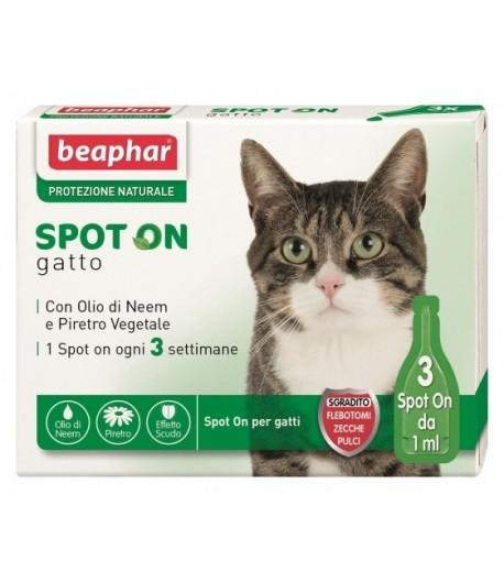 Beaphar, Protezione Naturale Olio di Neem, Spot on Gatti
