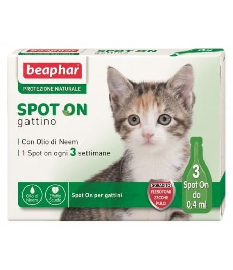 Beaphar, Protezione Naturale Olio di Neem, Spot on Gattino