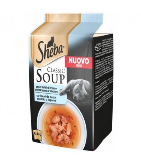 Sheba Soup 4 x 40 gr. - FILETTI DI PESCE