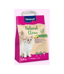Vitakraft, Natural Clean Lettiera Vegetale con MAIS bianco 2,4 Kg.