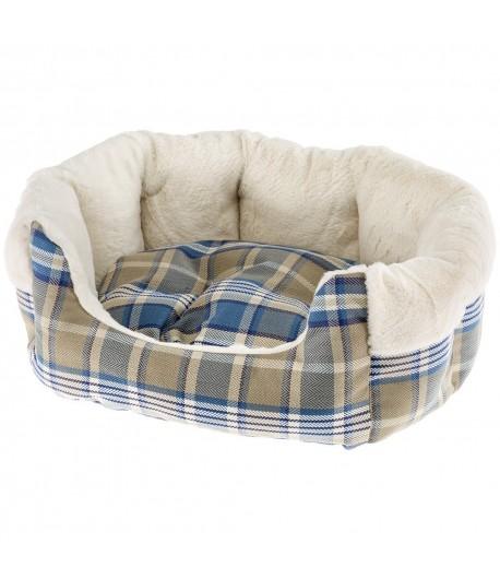 Ferplast, Divanetto in tessuto e pelliccia ecologica per cani e gatti.