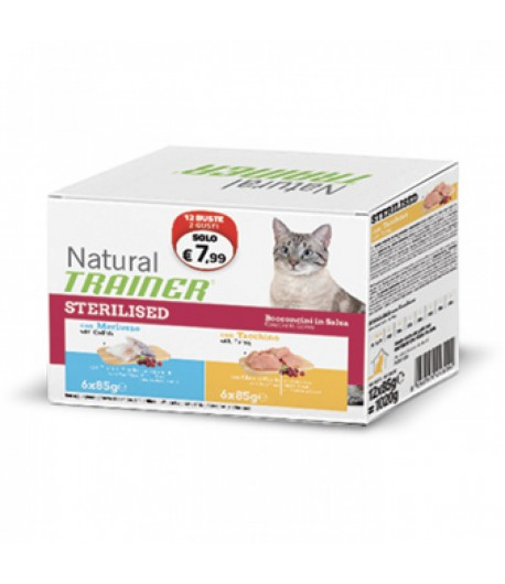 Trainer Natural Adult Sterilised Bocconcini in Busta Multipack 12 x 85 gr.