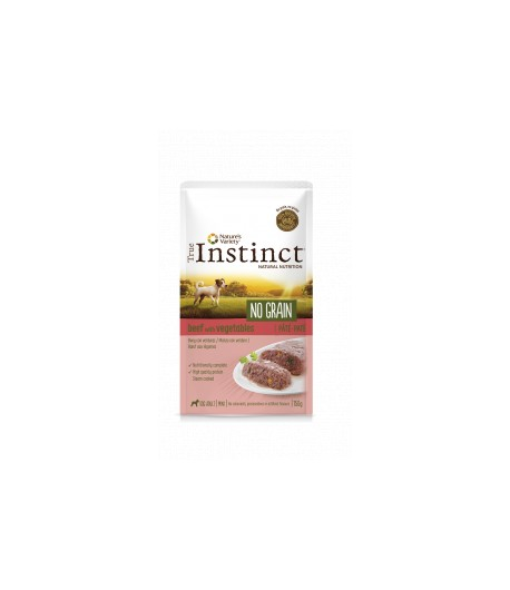 True Instinct DOG NO GRAIN Pate in bustina 150 gr. - MANZO