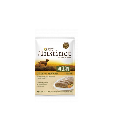 True Instinct DOG NO GRAIN Terrine con verdure in bustina 300 gr. - POLLO
