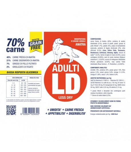 Vetline DOG Adult GRAIN FREE ANATRA (LD) 3KG + 1 KG. OMAGGIO
