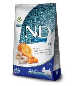 N&D OCEAN Dog Adult Mini Zucca, Aringa e Arancia