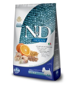 N&D OCEAN Dog Adult Mini Merluzzo e Arancia
