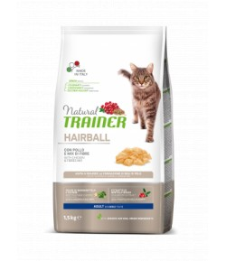 Trainer Natural Cat Adult Hairball con Pollo