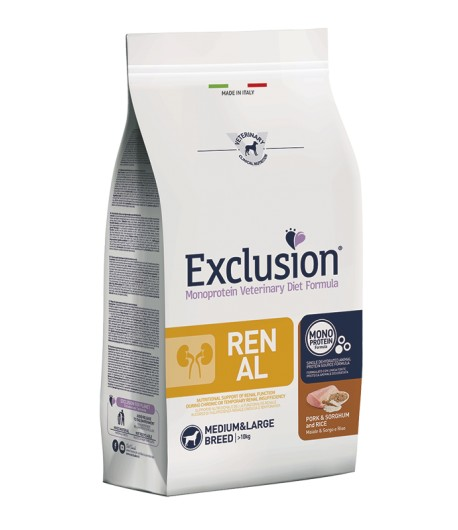 Exclusion Dog Veterinary Diet RENAL Medium/Large
