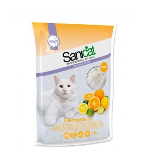 Sanicat Lettiera Diamonds in Silicio Citrus