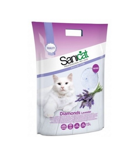 Sanicat Lettiera Diamonds in Silicio Lavanda
