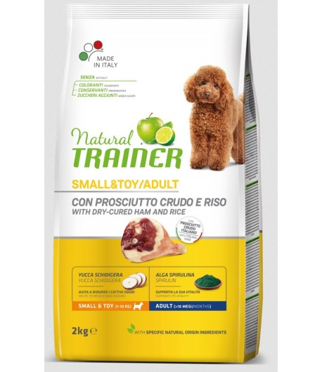 Trainer Natural Dog Small & Toy Prosciutto Crudo e Riso