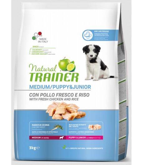 Trainer Natural Dog Medium Puppy & Junior Pollo Fresco