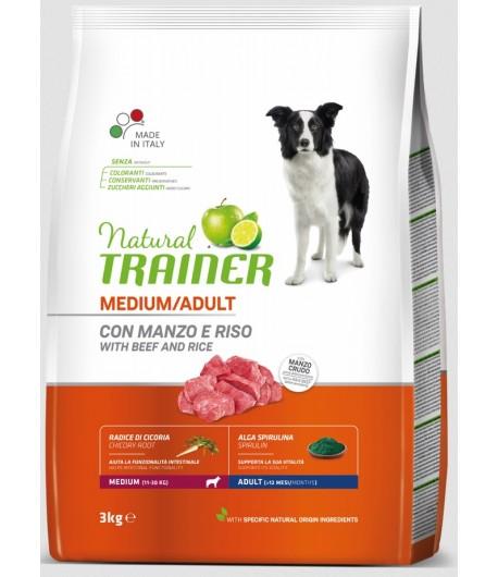 Trainer Natural Dog Medium Adult Manzo e Riso